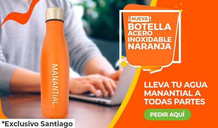 Banner botella naranja